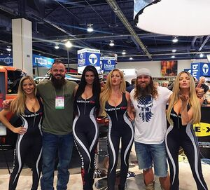 Out here at SEMA and look who we ran into!! @diesel.brothers !🤗 Come by and say hey to us at the @weathertech booth 👯👯💋❤️🏎💨