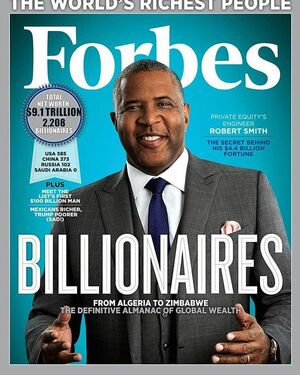 WOW. Wasn't sure if I would post this or not - it seems so personal but when it's on the cover of Forbes I think I can share it here. So proud of you Robert. Not because your net worth is high enough to land him on the @forbes list but because YOUR HEART IS MUCH BIGGER THAN YOUR NET WORTH. These articles focused on our philanthropic work and that makes me a very proud wife. If you have enough to help others you raise people up and give them opportunities they otherwise wouldn't have. Sometimes that's words of encouragement, sometimes it's supporting someone's education and sometimes it's helping support the cure for devastating diseases. Robert you've worked very hard and with your brilliant mind you're changing the world. 👏🏼👏🏼👏🏼