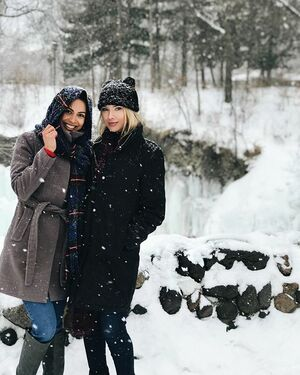 Exploring Minnehaha Falls with @rpomplun 🌨🌨🌨