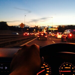 Driving in city can be a stressful, but I've learnt to look at another side of it. What a beautiful sunset.