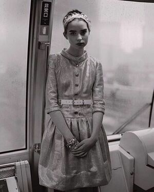 Baby me on the Japanese subway for @teenvogue by @nickhaymes 🖤 #tbt