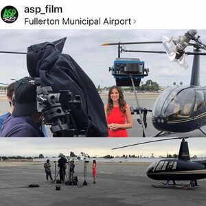 Awesome day last week filming host wraps w/ @asp_film for @jmrmediatrading #LuxuryLifeStyleTV Coming to an inflight tv in the friendly skies soon! 💺🛩✨❤️shoot location: @hangar21venue @hangar21helicopters